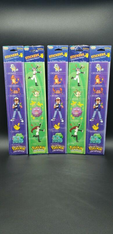 Vintage RARE 1999 Pokemon Sticker Time Stickers Sheets Nintendo Pikachu SEALED