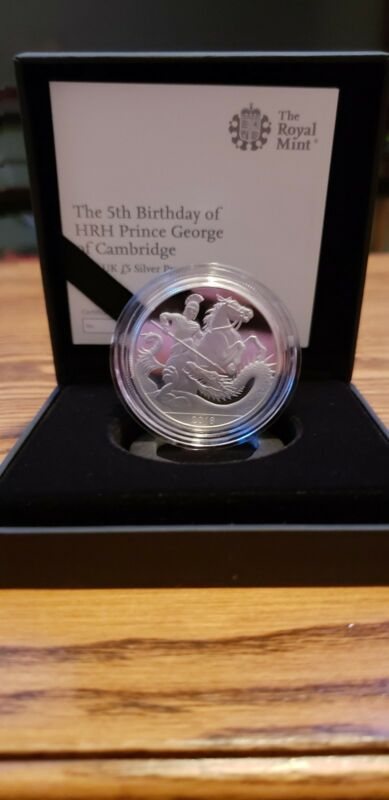 The 5th Birthday of HRH Prince George 2018 UK £5 Silver Proof Coin