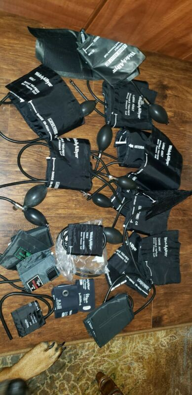 WELCH ALLYN BLOOD PRESSURE CUFFS LOT OF16 ASSORTED NO SPHYGMOMANOMETERS