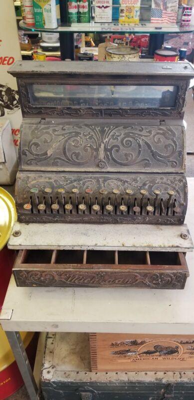 Vintage Antique Michigan Cash Register Steel