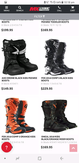Wanted: WTB. Kids Dirt Bike Boots & Armour