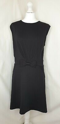 Ted Baker Black Bow Short Sleeve Gold Zip Jersey Smart Casual Dress Size 3 UK 12 - Shorts Gold Bow Kleid