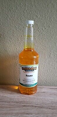 Hawaiian Shaved Ice Sno Cone Syrup Banana Flavor 32fl. Oz. 1 Quart