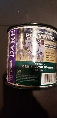 Dare 2343 Electric Fence Wire White Poly 3-wire Stainless Steel 820-ft. Spool
