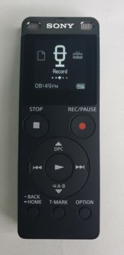 Sony ICD-UX560 Digital Voice Recorder with Built-in USB (Black) & 32GB SD Card