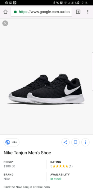 [Brand New Genuine] Nike Tanjun mens AU 13 | Men's Shoes | Gumtree Australia  The Hills District - Kellyville | 1175403903