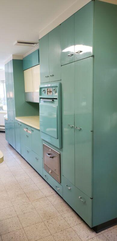 St Charles Metal Mid Century Kitchen Cabinets