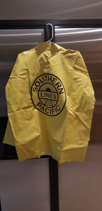 Southern Pacific Lines Rain Jacket Railroad Made in USA M Large Rainfair NIP NOS