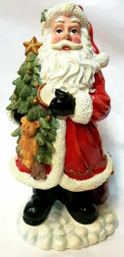 Regency+Father+Christmas+Santa+Claus+Decorative+Ornament+With+Tree+22cm