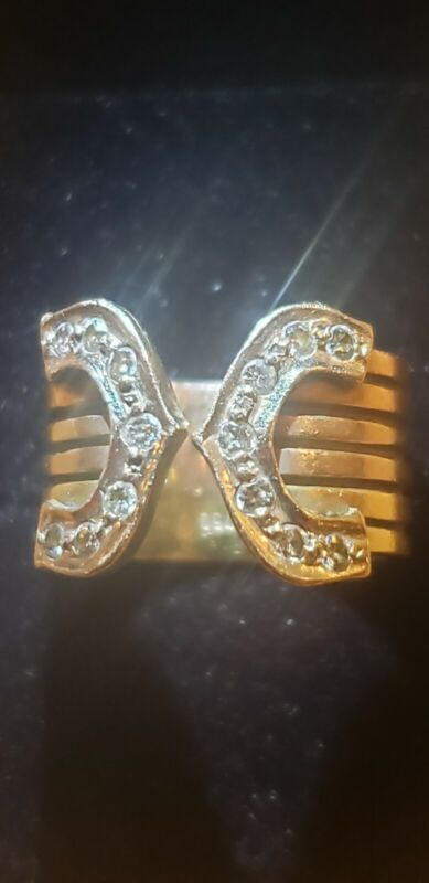 18K Gold and Diamond Ring Size 6 (10 grams)