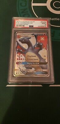 PSA MINT 9 2019 Pokemon Sun & Moon Hidden Fates SV49 CHARIZARD GX