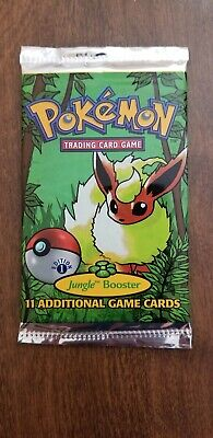 Pokemon 1st Edition Jungle Booster Pack Factory Sealed 1999 Flareon Art