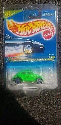 1995 Hot Wheels Treasure Hunt #05 VW Bug Volkswagen Fluorescent Green Purple TWs