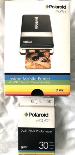 Polaroid PoGo Instant Mobile Bluetooth Printer Zink Zero Ink + 30 Sheets 2x3 NEW