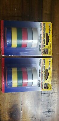 2 Packages Of Vintage Intertape Colored All Weather Vinyl Electrical Tape 12roll