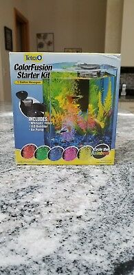 Tetra Colorfusion Starter Kit (1 Gallon Hexagon) Fish Tank
