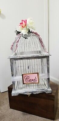 Bird Cage Wedding Card Box Card Holder Money Box - Birdcage Card Holder