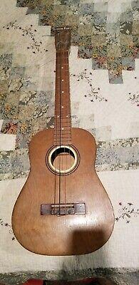 Vintage Custom Kraft Natural Uke Tenor Baritone Ukulele 1960's USA Guitar