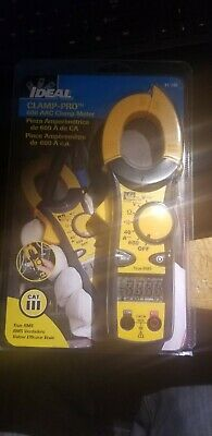 Ideal Industries Clamp-pro 600 Aac Clamp Meter True Rms Cat Iii New Sealed