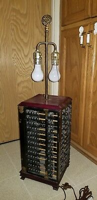 Vintage Lamp Made of 4 Lotus Flower Brand Abacus Peoples Republic of China