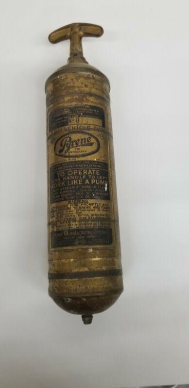 VINTAGE Pyrene Fire Extinguisher Antique