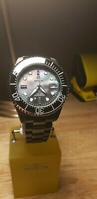 Invicta JT Jason Taylor Grand Diver Black Diamond Auto MOP Watch + Case