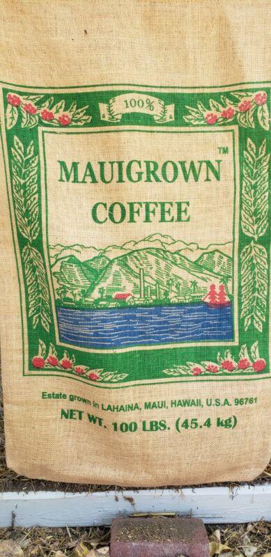 Hawaii coffee burlap bag Maui