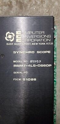 Computer Conversion Corporation Synchro Scope Rsm7