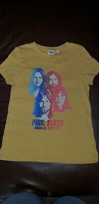 Junk Food PINK FLOYD Animals Tour '77 Women's Gold Yellow Rock T-shirt NWT M