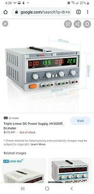 Dr.meter Hy3005f3 Triple Linear Dc Power Supply