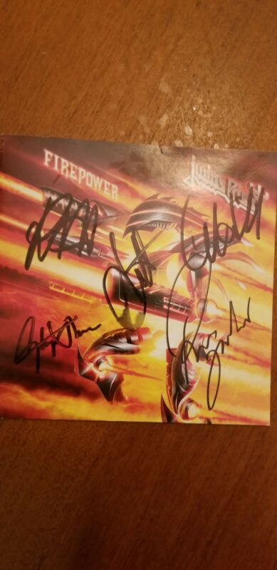 JUDAS PRIEST 'FIRE POWER' FULLY SIGNED CD BOOKLET
