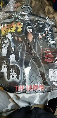 Mens Demon Halloween Costumes (Kiss The Demon Costume Halloween Adult Men Size Large with Wig and)