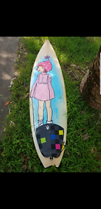 Glen Johnson shaped surfboard gangsta surf surfboard