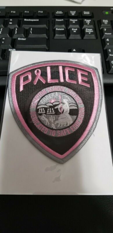 Compton School District #1 California Police Patch PINK Breast Cancer Awareness