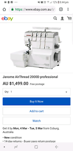 Janome airthread 2000D BRAND NEW