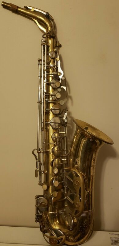 VINTAGE ALTO SAXOPHONE ( THE PARISIAN AMBASSADOR) MADE  IN FRANCE