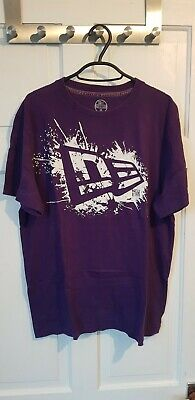 New Era Purple T-Shirt Mens Medium