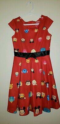 Disney TSUM TSUM Children's Character Mickey Red Dress Girls Size S - Red Dress Girls