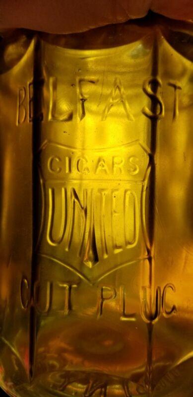 Yellow Amber United Cigars Belfast Cut Plug CigarJar District New York