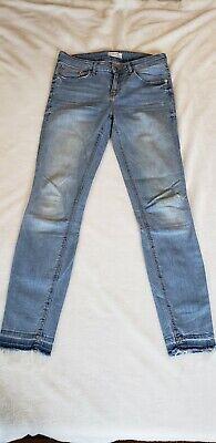 Zara Woman Raw Hem Distressed Jean, Sz 6