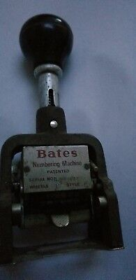 Vintage Bates Numbering Machine 6 Wheel Style E Stamper works