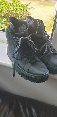 Puma trapstar Uk 10.5 Mens Black Trainers Boots Hightops