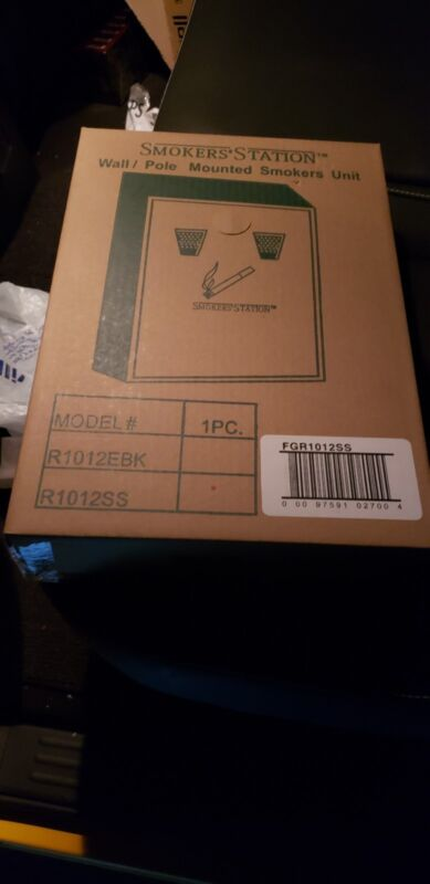 Smokers station R1012EBK wall/pole mounted smokers unit New In Box