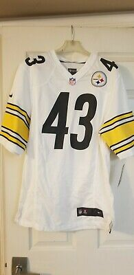 NIKE ON FIELD TROY POLAMALU #43 PITTSBURGH STEELERS JERSEY SMALL 477318-102 NWT