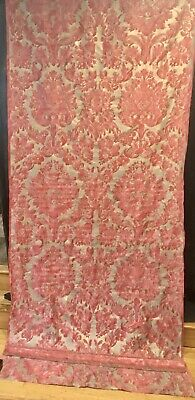 """Vintage vivaldi fortuny fabric 107"""" long  x 47.1/2""""W. Unfinished curtain panel"""