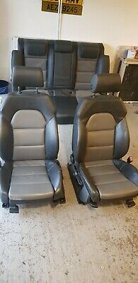 AUDI A4 B7 SLINE FULL LEATHER SEATS SALOON FRONT + REAR interior b6 2 tone black