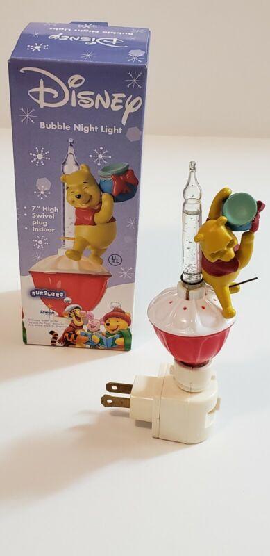 "Disney Bubble Night Light ""Winnie the Pooh"" 7"" Roman Lights Swivel Plug Indoor"