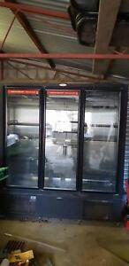 3 glass door beer fridge/freezer