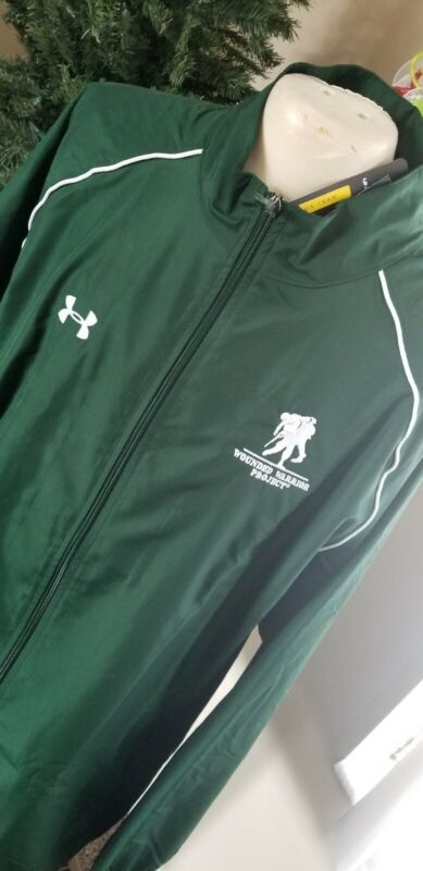 Wounded Warrior Project Under Armour Advance Woven Warm Up Track  Jacket XLARGE
