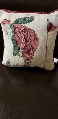 """Used, Christmas Decorative """"Santa Playing Golf"""" Tapestry Pillow  for sale  Fort Worth"""